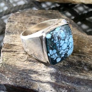 Ma-ashan turquoise men's ring size 9